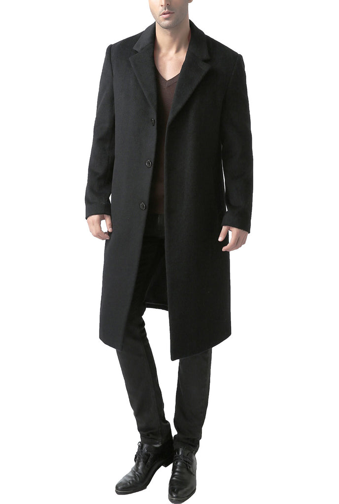 "BGSD Men's ""Hart"" Wool Blend Full Length Dress Coat - Tall"