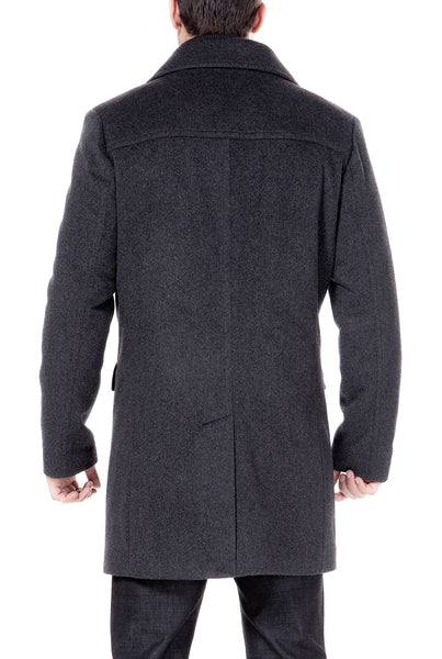BGSD Men's 'Stephen' Cashmere Blend Bibbed Walking Coat
