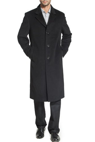 "BGSD Men's ""Henry"" Cashmere Blend Long Walking Coat - Big"