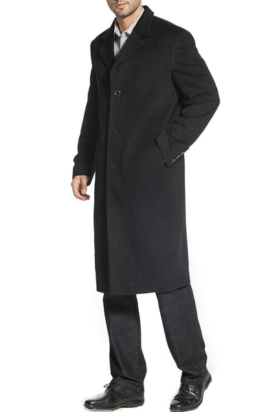 "BGSD Men's ""Henry"" Cashmere Blend Long Walking Coat - Short"