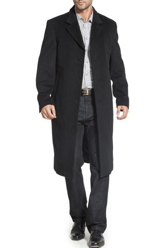 "BGSD Men's ""Henry"" Cashmere Blend Long Walking Coat - Big & Tall"