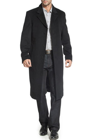 BGSD Men's 'Henry' Cashmere Blend Long Walking Coat - Big & Tall