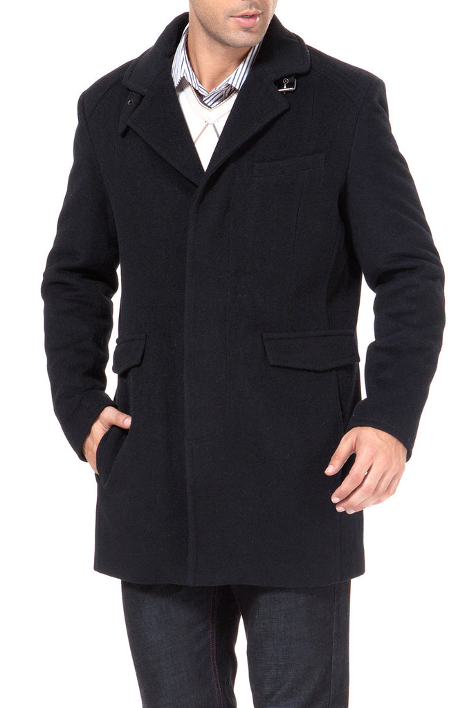 BGSD Men's Cashmere Blend Walking Coat