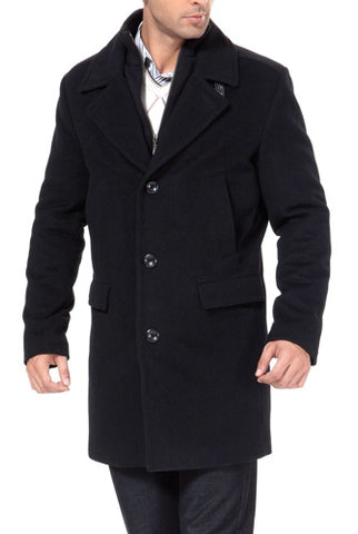 "BGSD Men's ""Steven"" Cashmere Blend Bibbed Walking Coat - Tall"