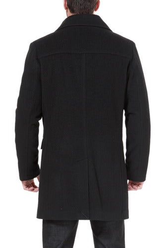 "BGSD Men's ""Steven"" Cashmere Blend Bibbed Walking Coat - Big"
