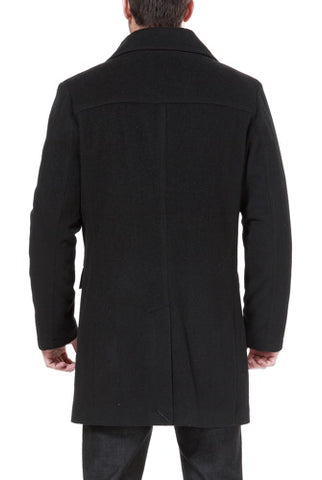 BGSD Men's 'Steven' Cashmere Blend Bibbed Walking Coat - Big