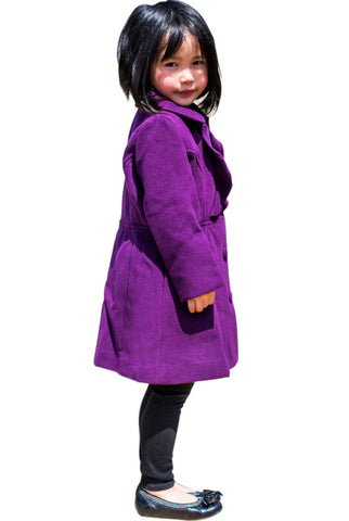 Widgeon Girls 2-6X Fancy Ruffle Button Up Fleece Coat