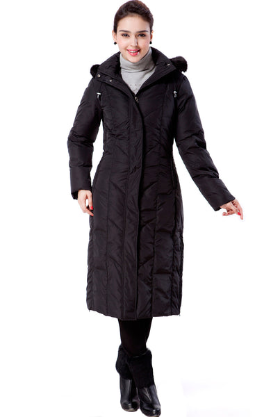 "BGSD Women's ""Tisha"" Water Resistant Long Hooded Down Parka Coat"