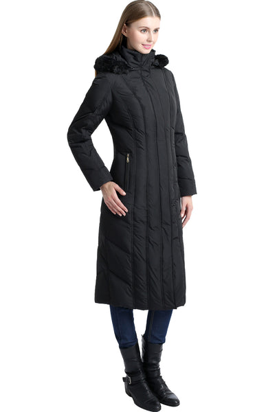 "BGSD Women's ""Tabby"" Water Resistant Hooded Maxi Down Coat"