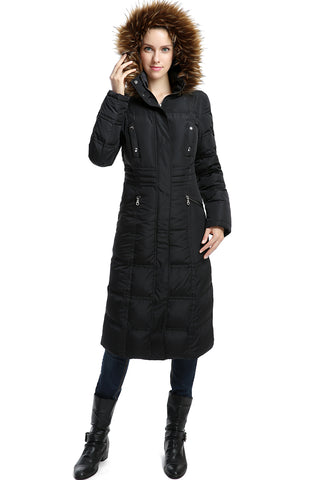 "BGSD Women's ""Lillian"" Water Resistant Long Down Coat"