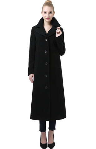 "BGSD Women's ""Jeanette"" Long Wool Blend Maxi Walking Coat - Plus"