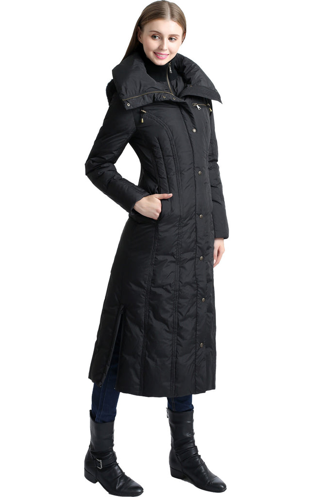 848bd9bf37f ... bgsd womens lacey water resistant hooded long down puffer coat ...