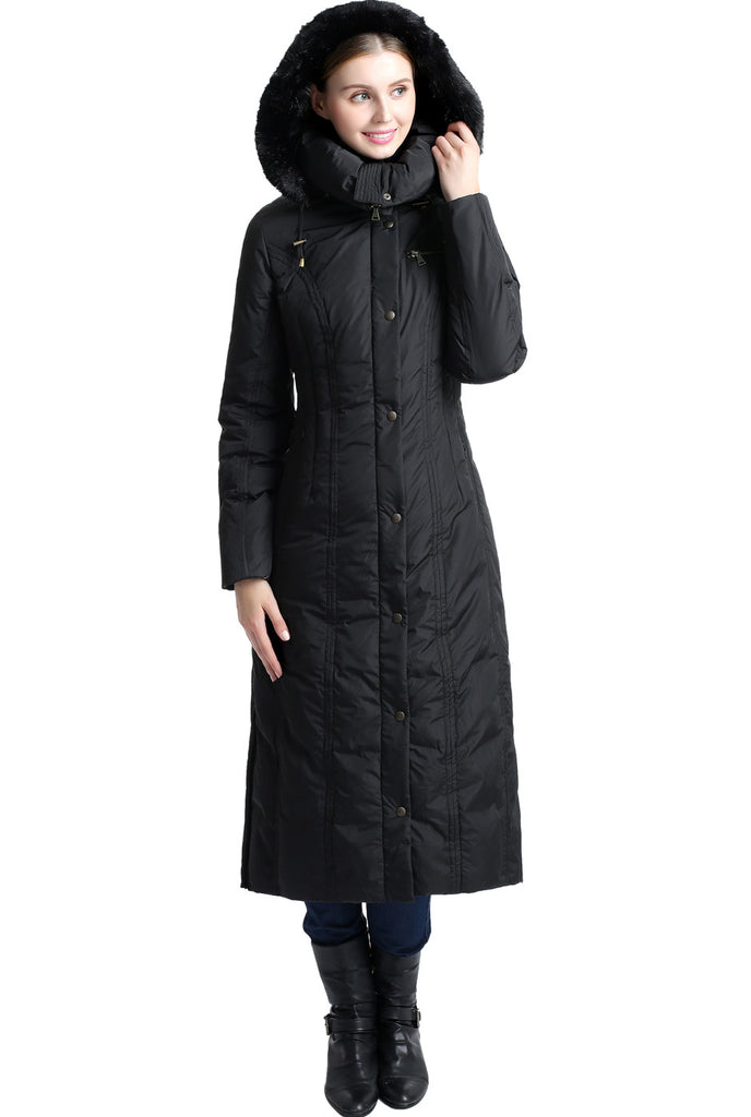 "BGSD Women's ""Lacey"" Water Resistant Hooded Long Down Puffer Coat"