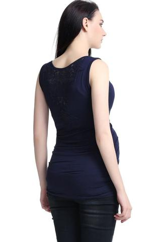 "Kimi + Kai Maternity ""Sophie"" Lace Back Tank Top"