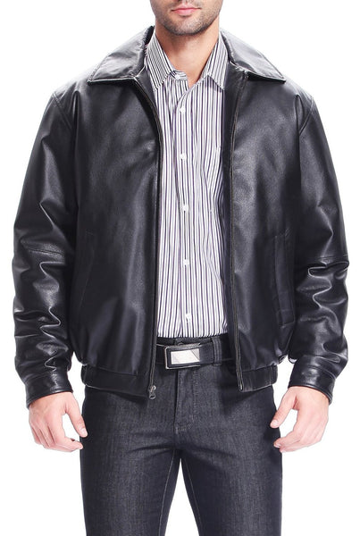 bgsd mens derrick leather bomber jacket