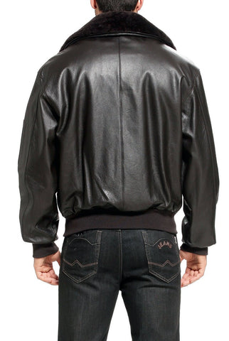 Landing Leathers Men's Air Force B-15 Cowhide Leather Flight Bomber Jacket