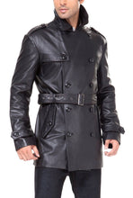 Load image into Gallery viewer, bgsd mens damian new zealand lambskin leather trench coat