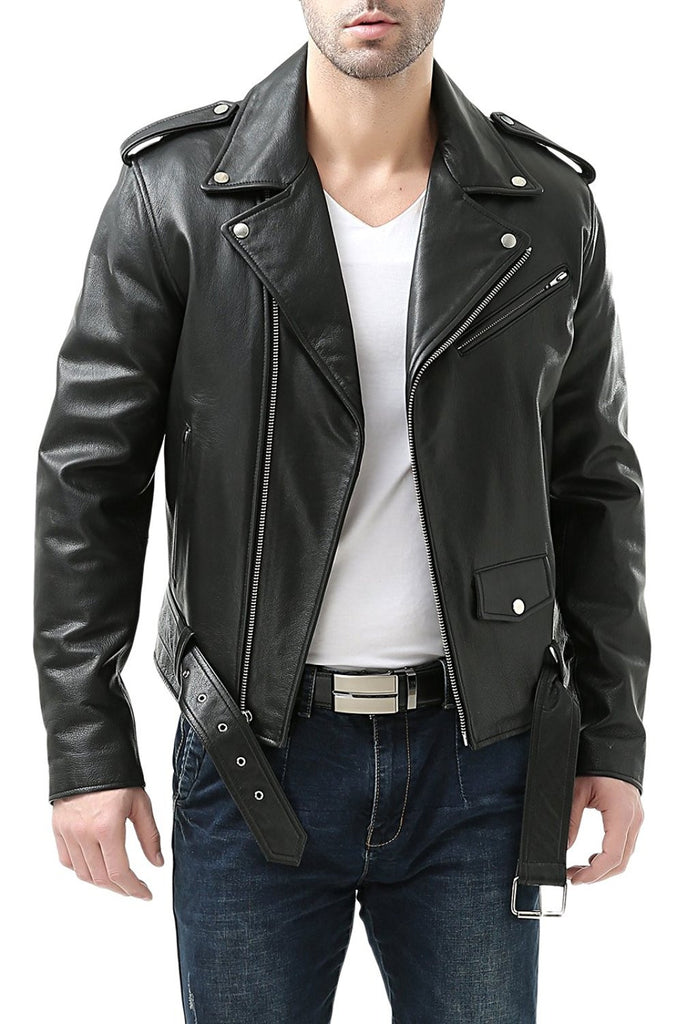 Classic leather jacket mens