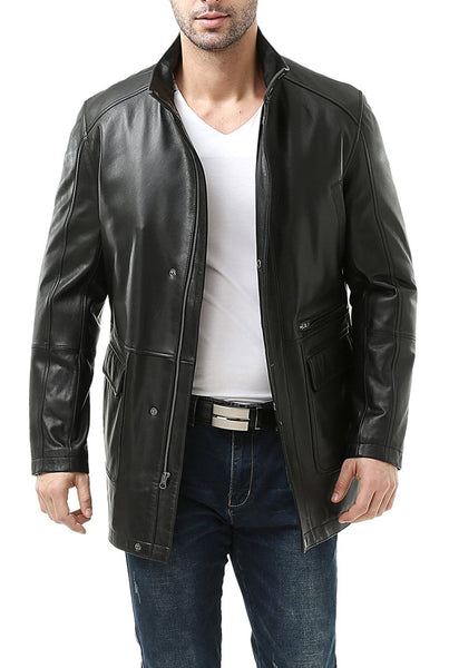 bgsd mens kyle new zealand lambskin leather car coat