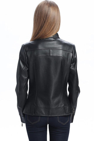 "BGSD Women's ""Maura"" Leather Biker Jacket - Plus"