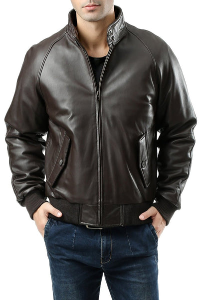 Landing Leathers Men's WWII New Zealand Lambskin Leather Bomber Jacket - Tall