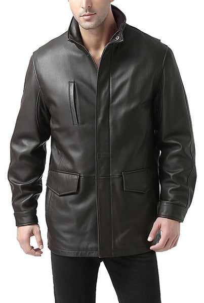 "BGSD Men's ""Bryson"" Zealand Lambskin Leather Coat - Tall"