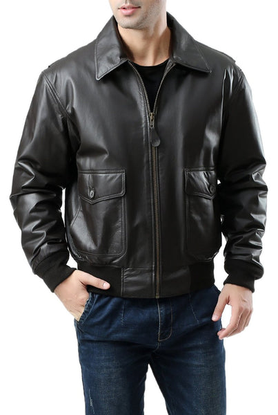 Landing Leathers Men's G-2 Leather Flight Bomber Jacket
