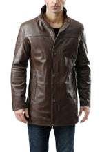 "Load image into Gallery viewer, BGSD Men's ""Chad"" New Zealand Lambskin Leather Car Coat"