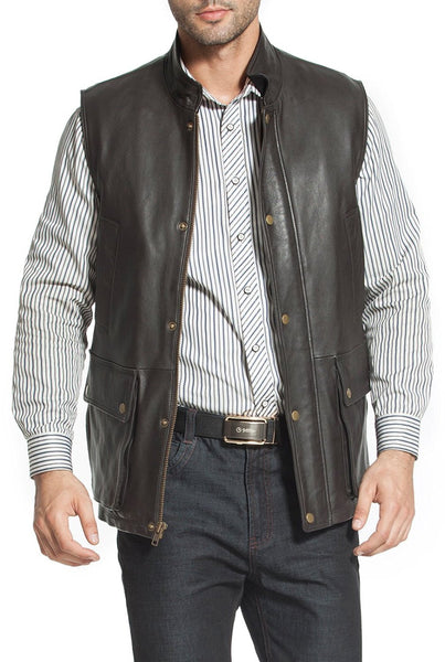 landing leathers mens goatskin leather munitions vest