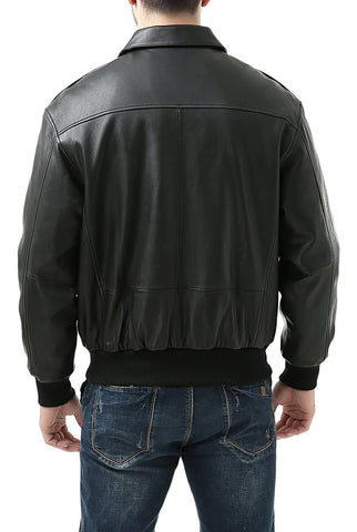 Landing Leathers Men's Air Force A-2 Leather Flight Bomber Jacket - Tall