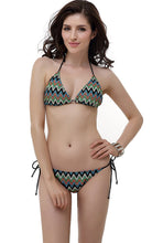"Load image into Gallery viewer, Women's Miss Adola ""Missy"" Chevron Crochet Triangle Bikini Bathing Suit Set"