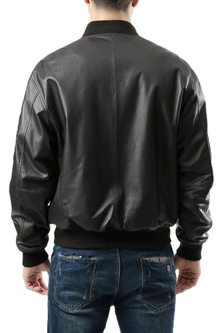 Landing Leathers Men's MA-1 Leather Flight Bomber Jacket