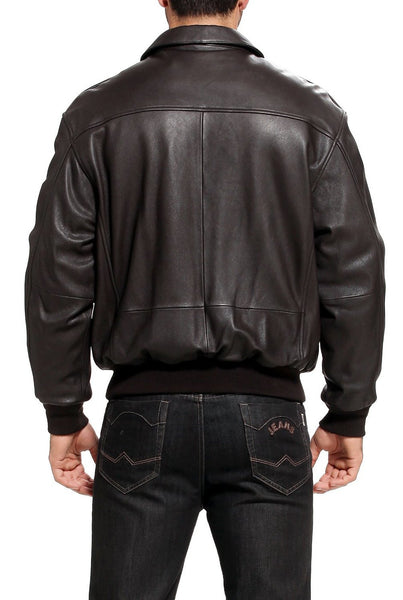 Landing Leathers Air Force Men's A2 Goatskin Leather Flight Bomber Jacket (A-2)