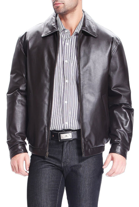 bgsd mens derrick leather bomber jacket 1