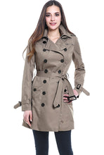 "Load image into Gallery viewer, BGSD Women's ""Viv"" Waterproof Hooded Mid Length Trench Coat"
