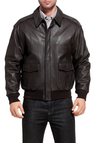 Landing Leathers Air Force Men's A-2 Goatskin Leather Flight Bomber Jacket