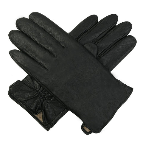 Luxury Lane Men's Cashmere Lined Lambskin Leather Gloves