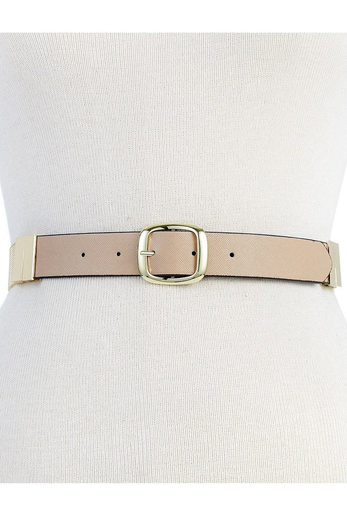 Steve Madden Women's Taupe/Black Gold Mesh Reversible Belt