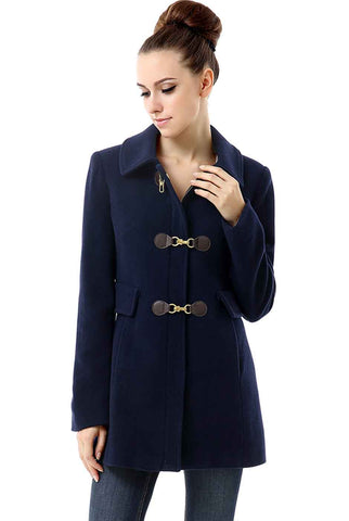 "BGSD Women's ""Sydney"" Wool Blend Toggle Coat - Plus"