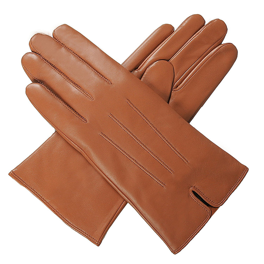 Luxury Lane Women's Cashmere Lined Lambskin Leather Gloves