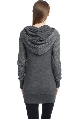 "Kimi + Kai Maternity ""Circa"" Wrap Hooded Sweatshirt Tunic"