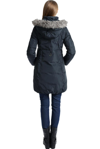 "Kimi and Kai Maternity ""Minnie"" Hooded Down Puffer Coat"