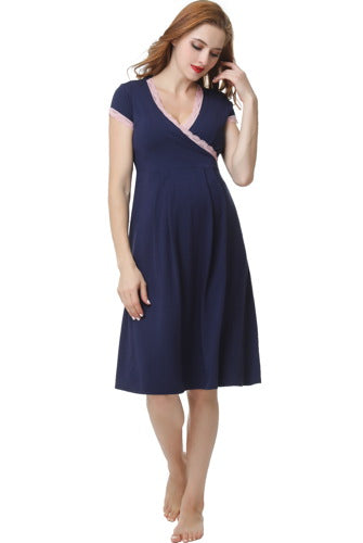 "Kimi + Kai ""Jenny"" Maternity & Nursing Nightgown Dress"