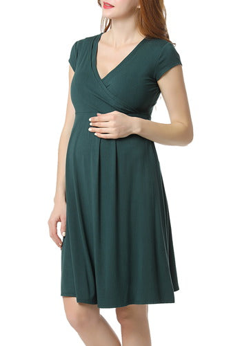 Glow & Grow Women's Ultra Soft Maternity & Nursing Nightgown Dress