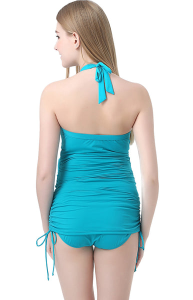 "Kimi + Kai Maternity ""Chloe"" O-Ring Shirred Swim Tankini & Bottom Set"
