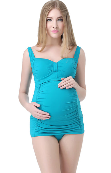 "Kimi + Kai Maternity ""Milly"" Swim Tankini & Bottom 2-Piece Set"