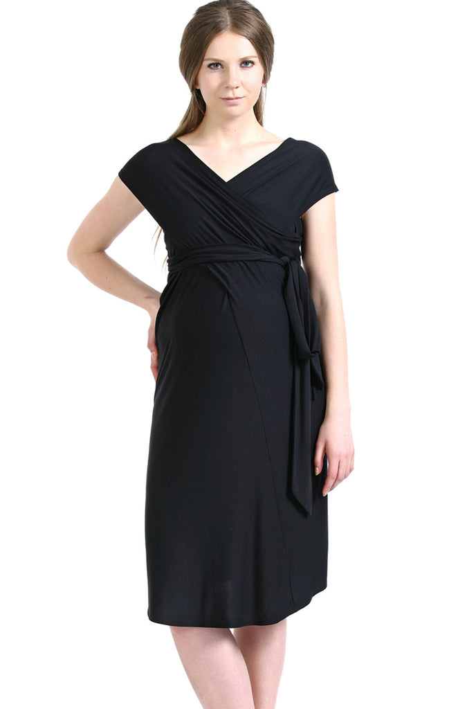 "Kimi and Kai Maternity ""Avery"" Infinity Wrap Dress"