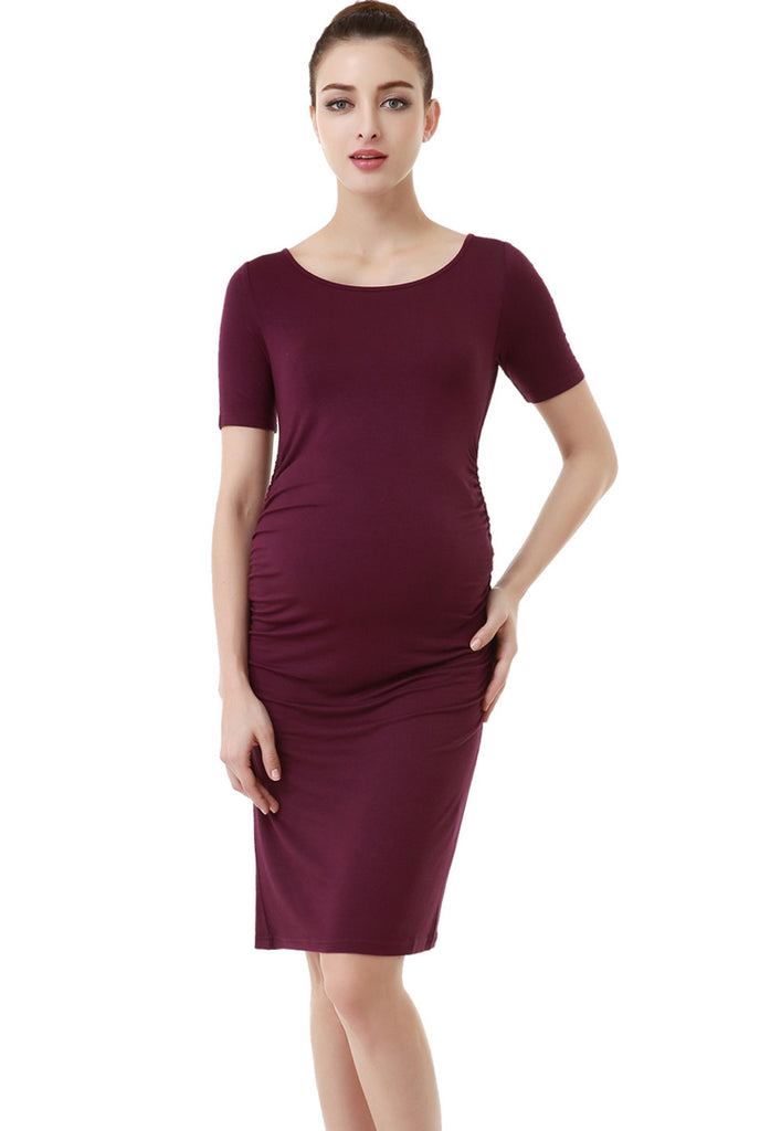 kimi and kai maternity demi ruched dress