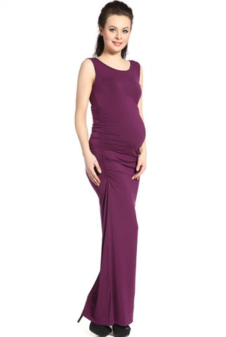 "Kimi + Kai Maternity ""Charlotte"" Tank Column Maxi Dress"