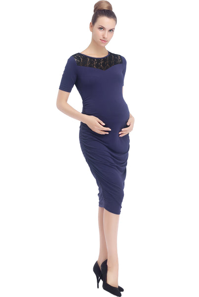 "Kimi + Kai Maternity ""Ally"" Lace Bodycon Dress"